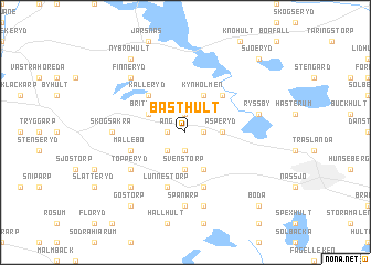 map of Bästhult