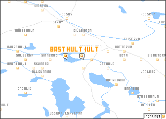 map of Basthult