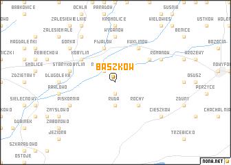 map of Baszków