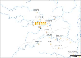 map of Bataan