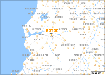 map of Batac