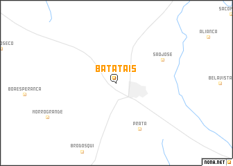 map of Batatais