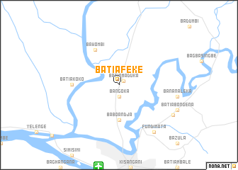 map of Batiafeke