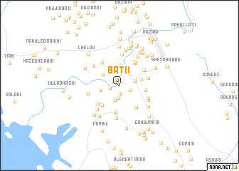 map of Baţī'ī
