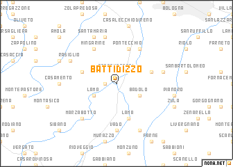 map of Battidizzo