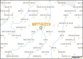 map of Battidizzo