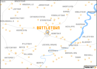 map of Battletown