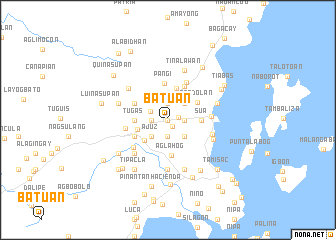 map of Batuan