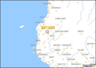 map of Batuan