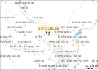 map of Batu Caves