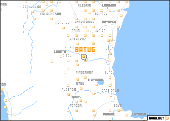 map of Batug