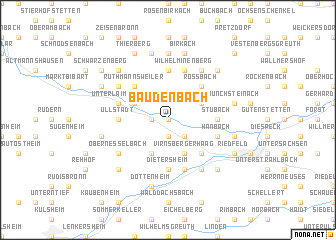 map of Baudenbach