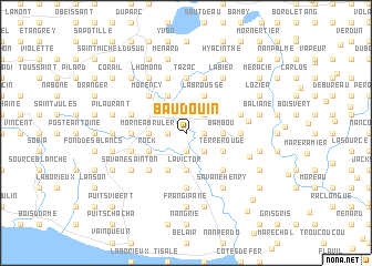 map of Baudouin