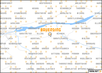 map of Bauerding