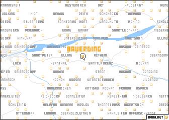 map of Bauerding