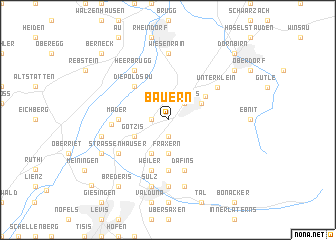 map of Bauern