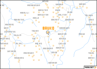 map of Bauko
