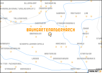 map of Baumgarten an der March