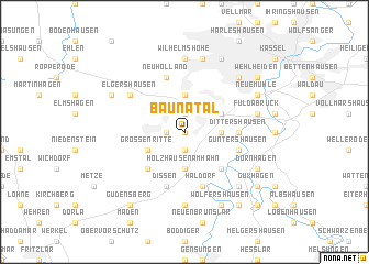 map of Baunatal
