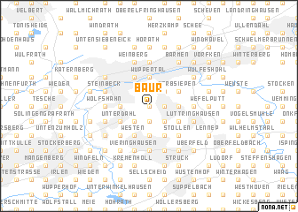 map of Baur