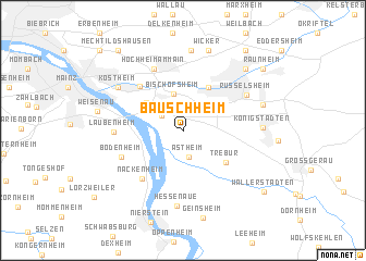 map of Bauschheim