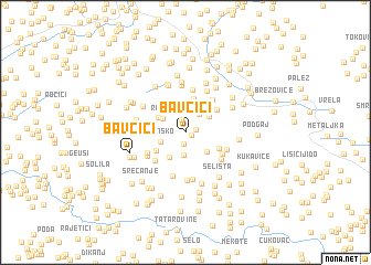 map of Bavčići