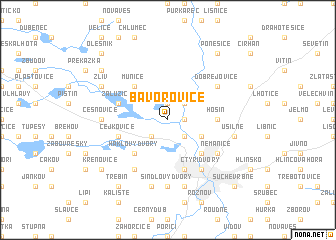 map of Bavorovice