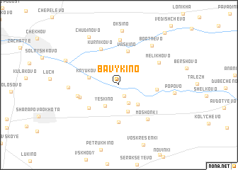 map of Bavykino