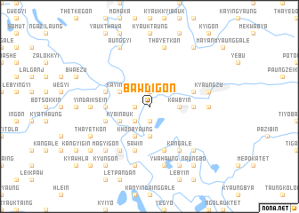 map of Bawdigon