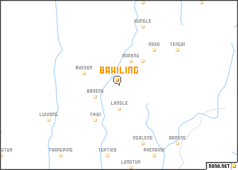 map of Bawiling
