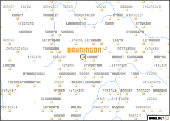 map of Bawningon