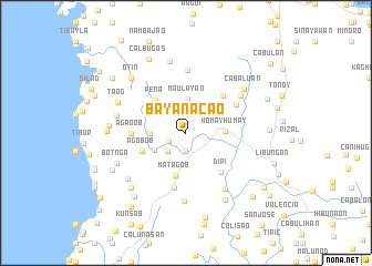 map of Bayanacao