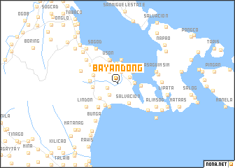 map of Bayandong