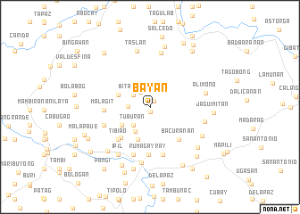 map of Bayan