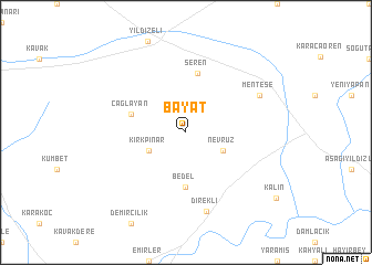 map of Bayat