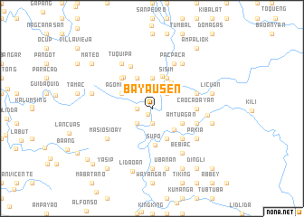 map of Bayausen