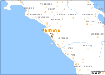 map of Bayeye