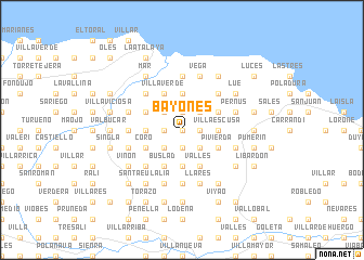 map of Bayones