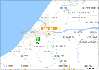 Bayonne France map nonanet