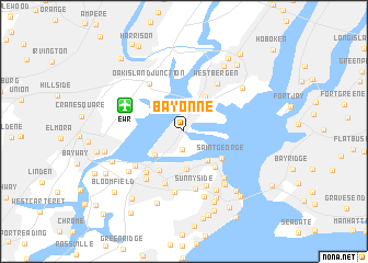 Bayonne United States USA map nonanet