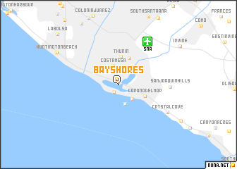map of Bay Shores