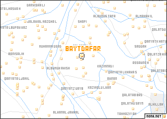 map of Bayt Dafār