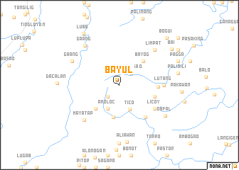 map of Bayul