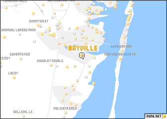 Bayville United States USA Map Nonanet - New jersey on a map of the usa