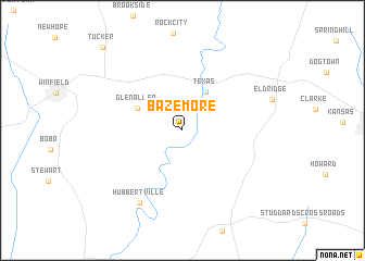 map of Bazemore