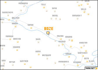 map of Bāzē