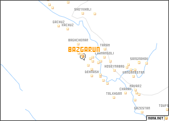 map of Bāzgarūn