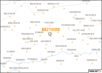 map of Bazykino