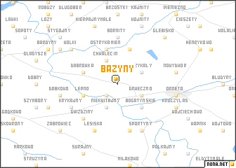 map of Bażyny