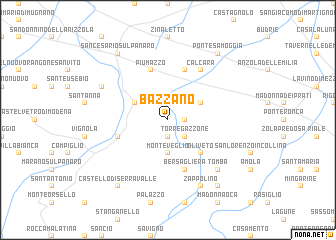 map of Bazzano
